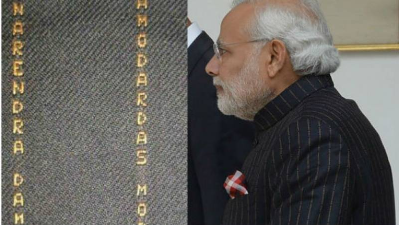 Modi's suit with his name on it to be auctioned