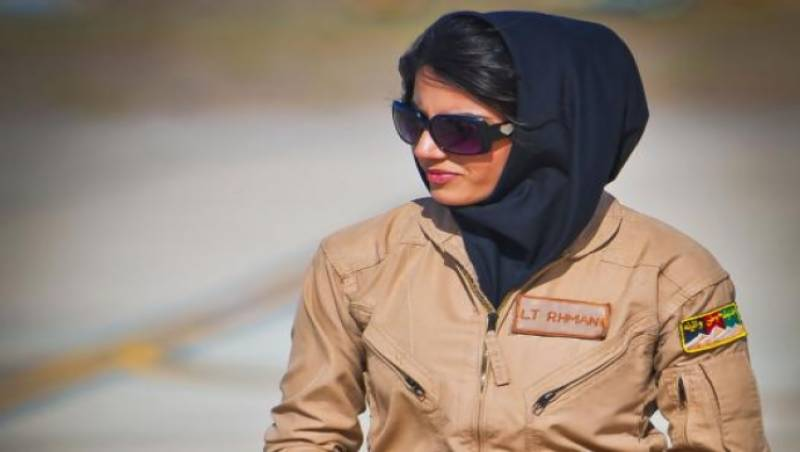 Afghan female pilot selected for Int'l Women of Courage Award 2015