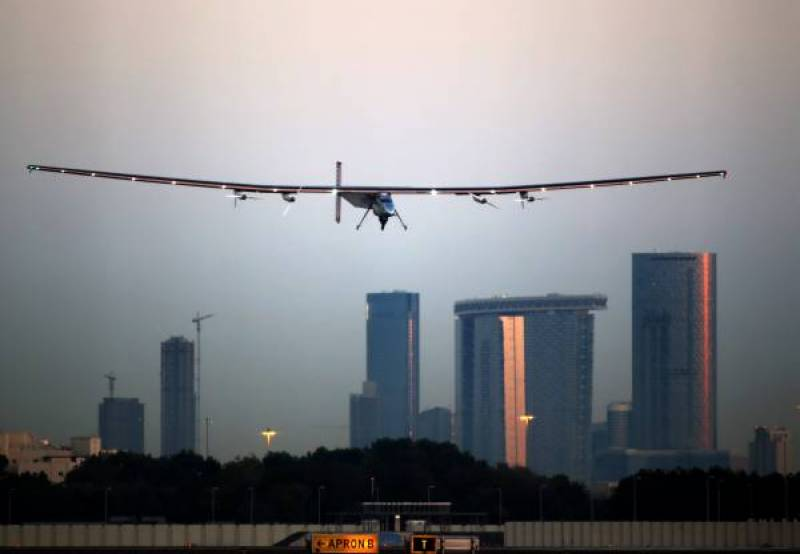 Solar-powered plane takes off first flight