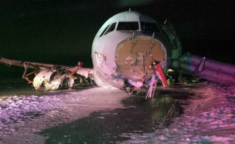 Air Canada jet skids off Halifax runway, 23 injured