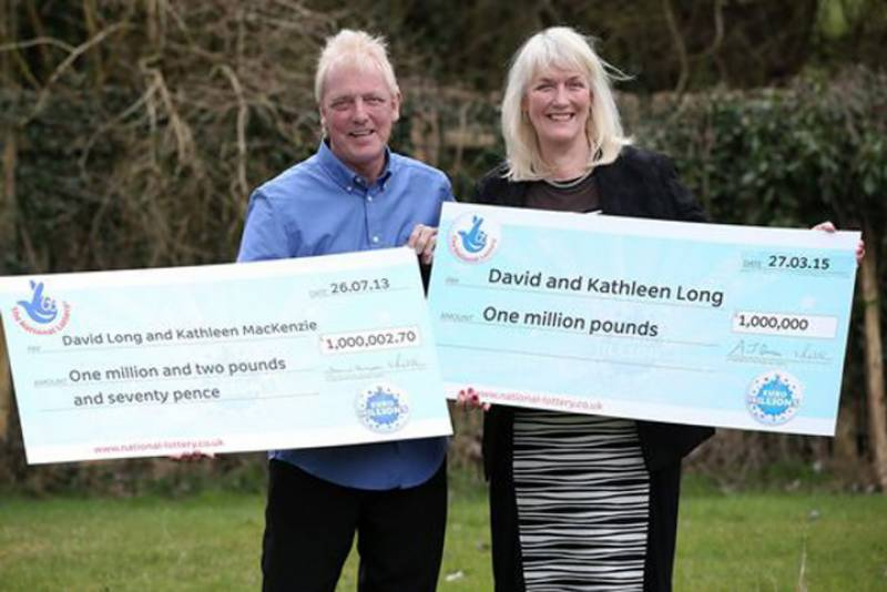 MILLIONAIRE TWICE: British couple wins lottery for 2nd time