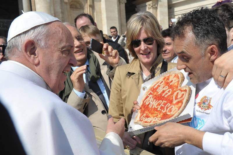 Pizza-loving Pope told to cut back on pasta to shift surplus pounds