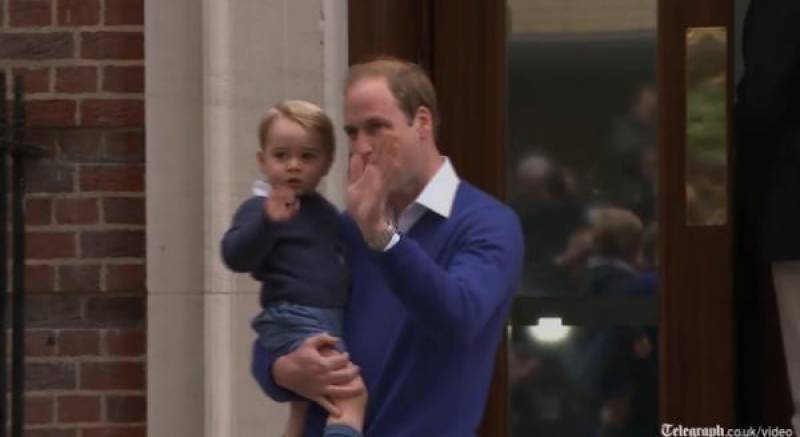 Prince George arrives hospital to see his 'new sister'