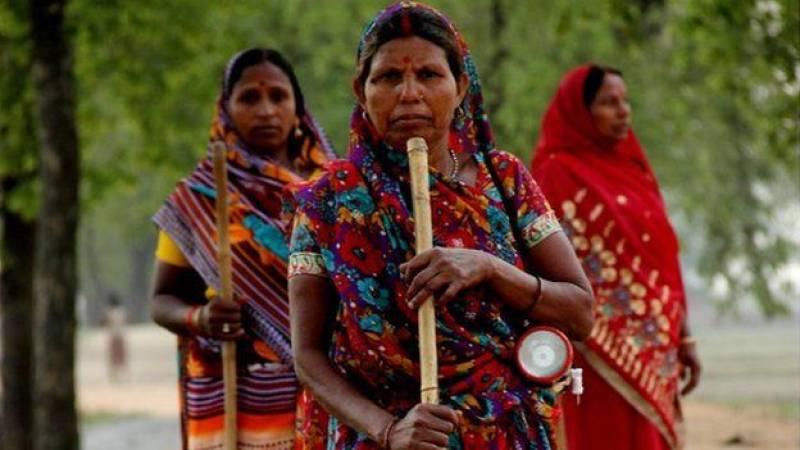 Stick-wielding women chase away defecating men in Bihar village
