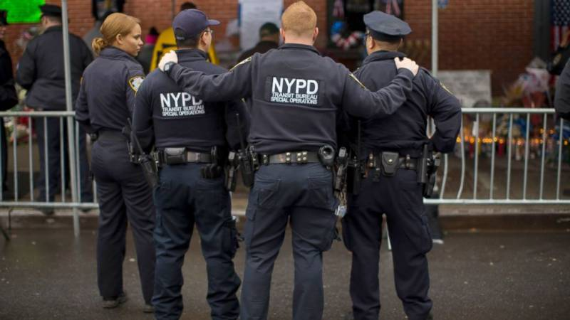 NY cop shot in head