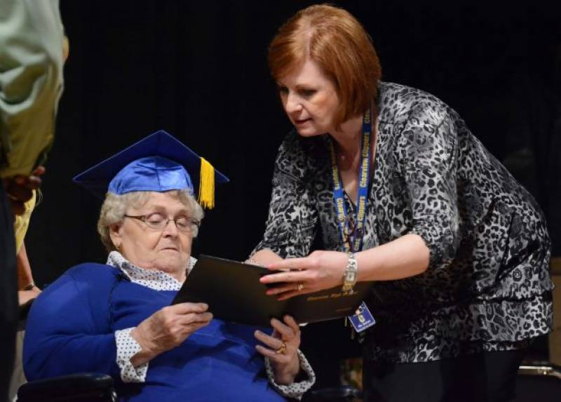 Ohio woman receives high school diploma after 63 years
