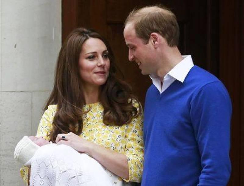 Royal baby meets family members