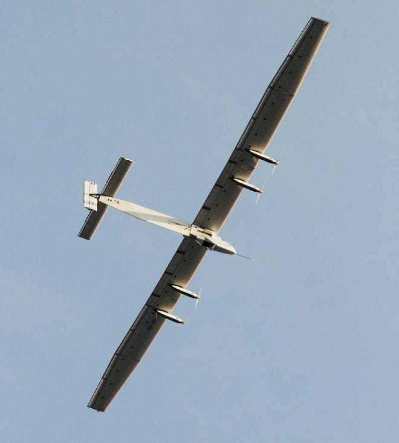 Solar-powered plane pilot set for record Pacific flight