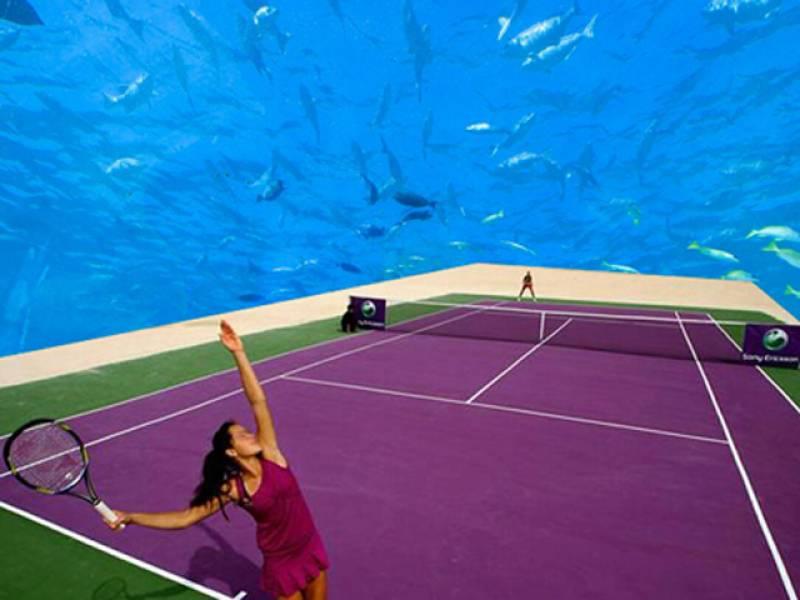 'UNDERWATER WIMBLEDON': Polish architect plans for an underwater tennis complex in Dubai