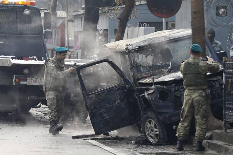 Two killed in Kabul suicide attack targeting foreign convoy
