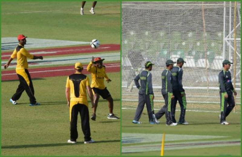 Pak, Zimbabwe players holding practice session today