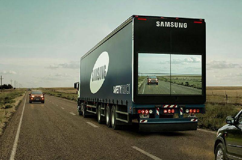 Samsung unveils 'see through' trucks
