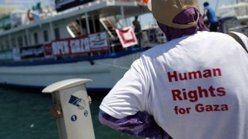 Israel bars foreign activist flotilla from reaching Gaza