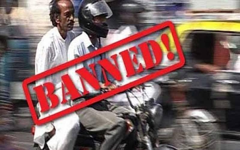Pillion riding banned in Karachi, Sukkur, Hyderabad