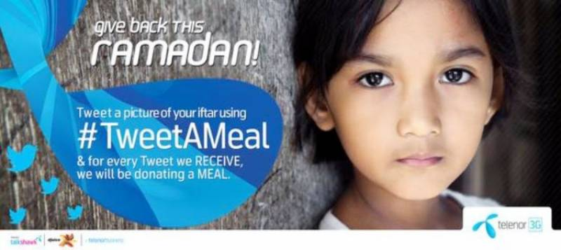 Telenor's #TweetAMeal campaign aims to feed the underprivileged
