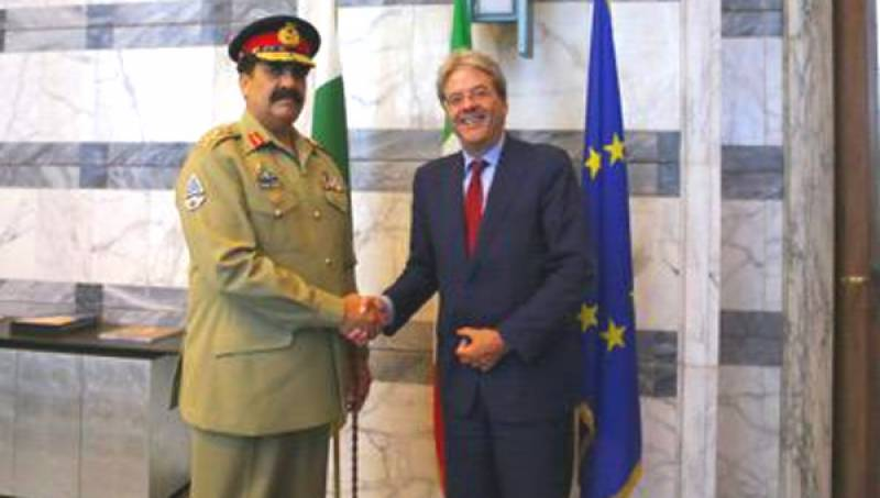 Army Chief arrives in Italy on three-day visit
