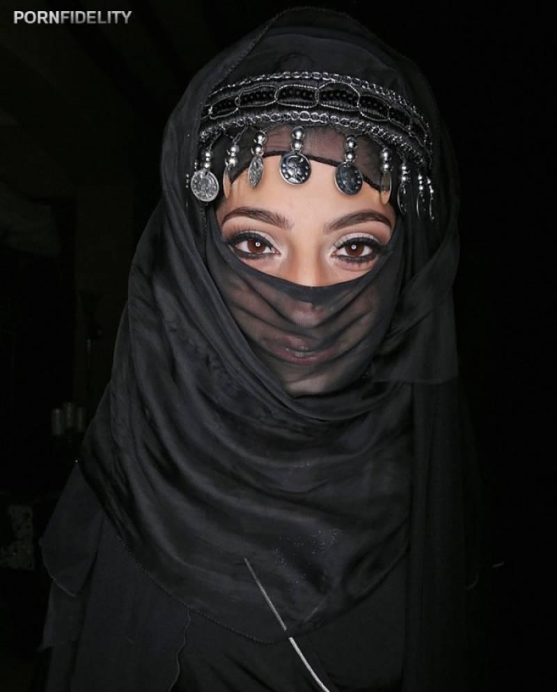 Pakistani pornstar Nadia Ali participates in anti-Hijab adult film