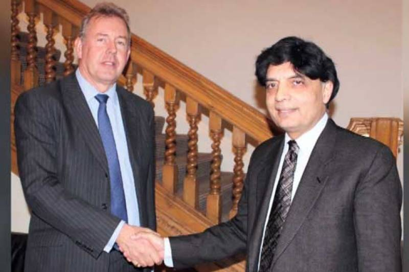 Chaudhry Nisar assures Britain full support
