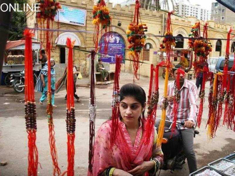 Pakistani Hindus celebrate religious festival 'Rakhi'