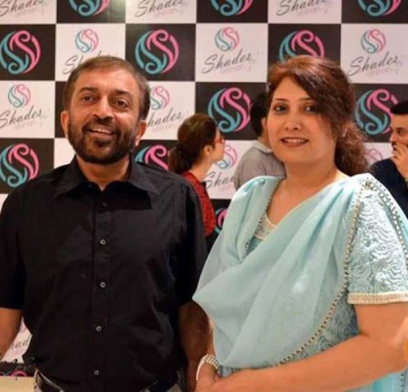 MQM's Farooq Sattar walks down the ramp for wife