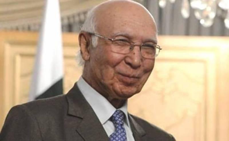 Sartaj Aziz leaves for Kabul