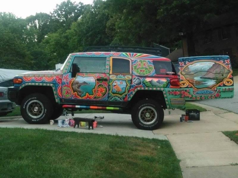 Pakistani artist takes unique Truck Art to Washington streets