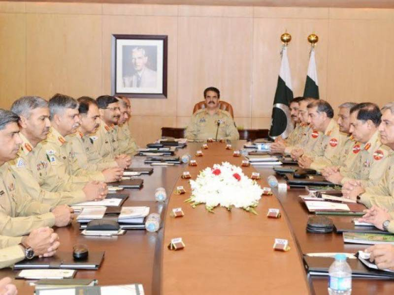 Corps Commanders' Conference reviews security situation