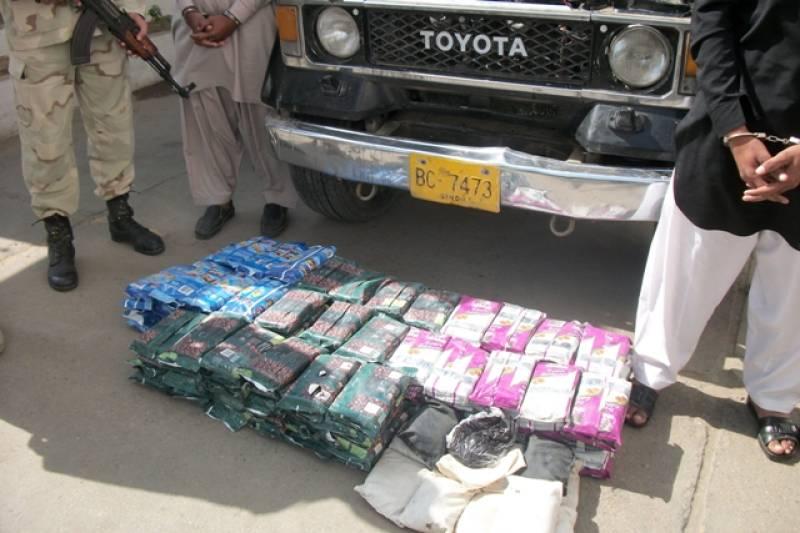 Anti-Narcotics Force recovers 100kg hashish from Karachi