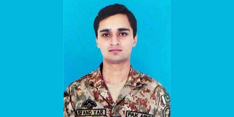 Funeral prayers of Captain Isfand Yar to be offered today