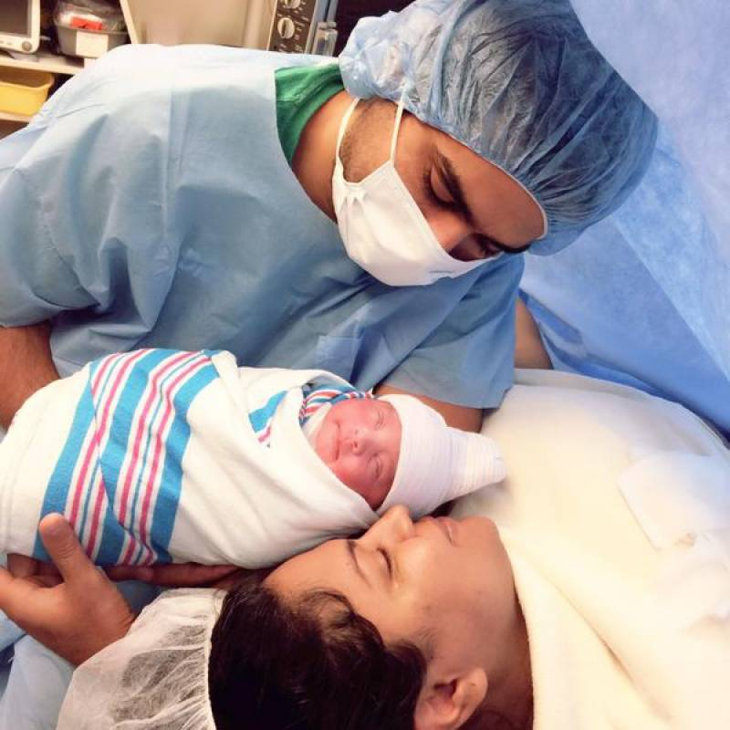 Veena Malik gives birth to a baby girl