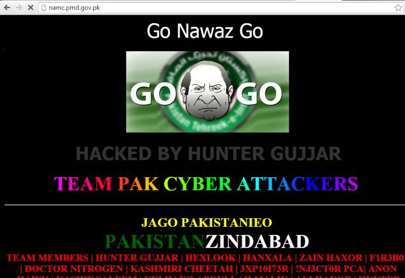 Hackers write 'Go Nawaz Go' slogan at Meteorological Department website
