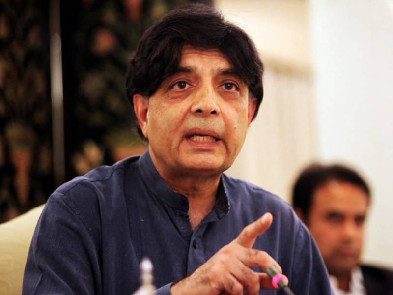 Stable Balochistan must for peaceful Pakistan, says Nisar