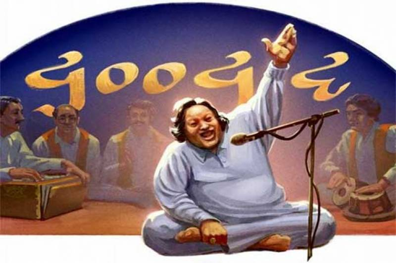 Google's launches special Doddle to pay tribute to Nusrat Fateh Ali on 67th birth day