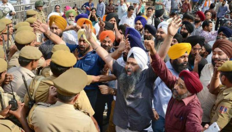 82 injured as Sikh protesters clash with Indian police
