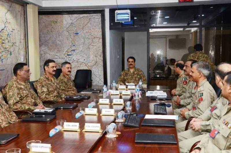Gen Raheel Sharif visits FC Headquarters in Peshawar