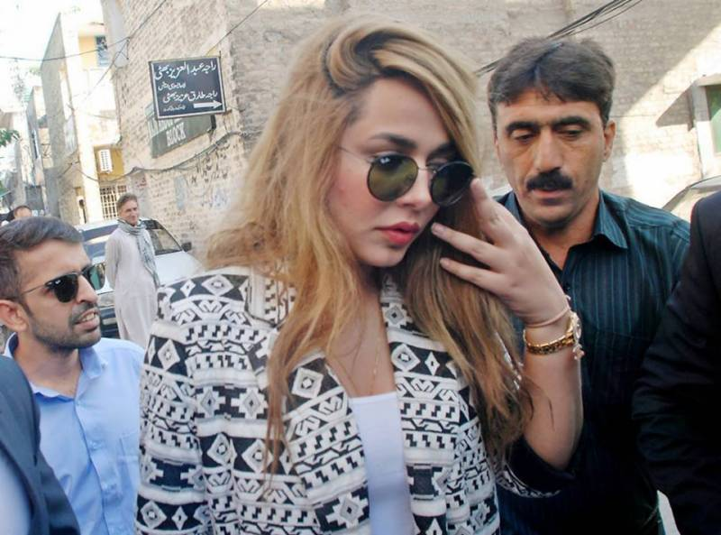 Ayyan Ali plays hide and seek with media