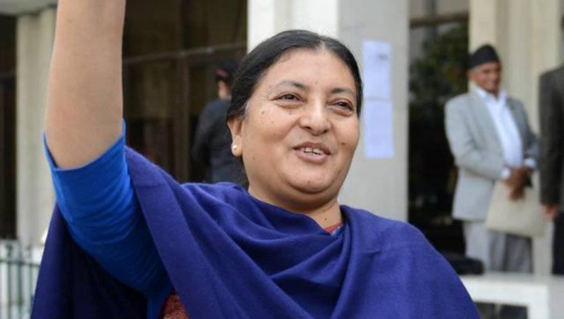 Bidhya Bhandari is Nepal's first female president