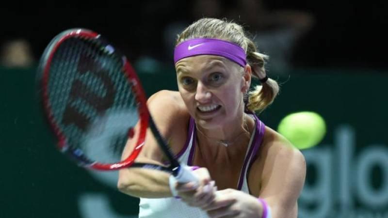 Tennis: Czech mate as Kvitova wins battle of lefties