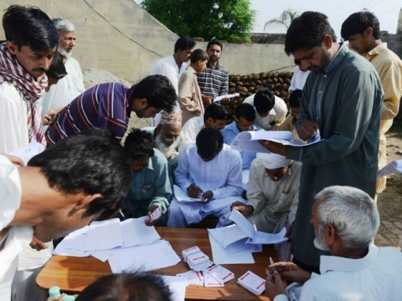Voting held to select candidate for LB polls in District Khanewal village
