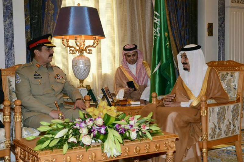 COAS Raheel Sharif meets Saudi King Salman, Crown Prince