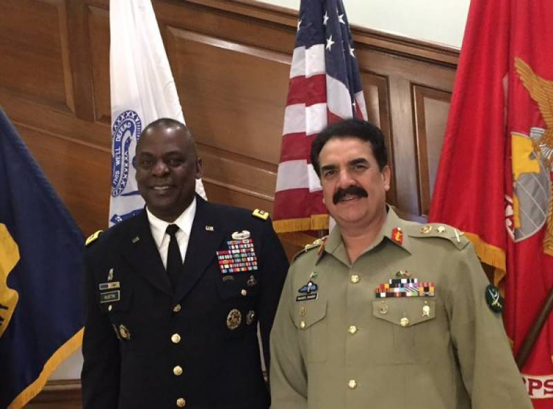 Gen Raheel Sharif meets top Pentagon officials; special banquet held in honour of COAS