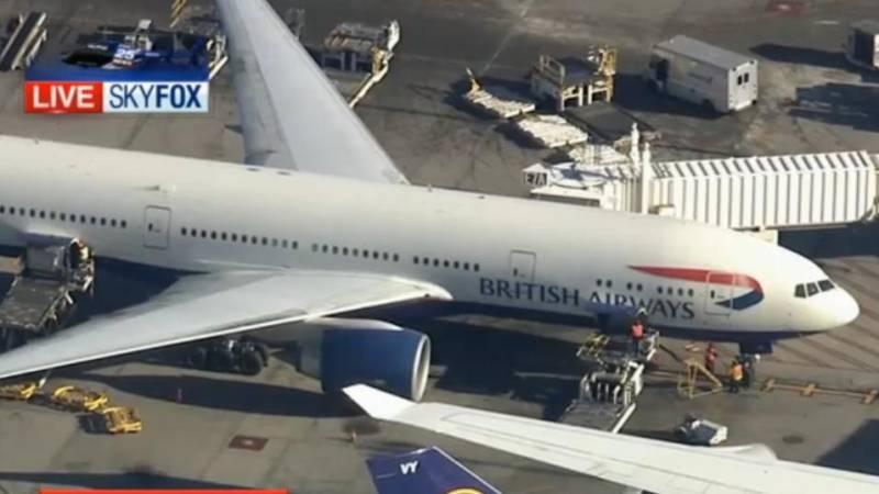 Passenger restrained on Boston-bound British Airways flight