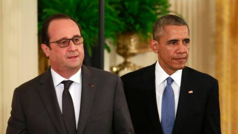 US, France stand united against IS: Obama