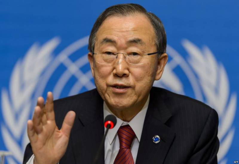 Ban Ki-moon welcomes Nawaz-Modi meeting in Paris