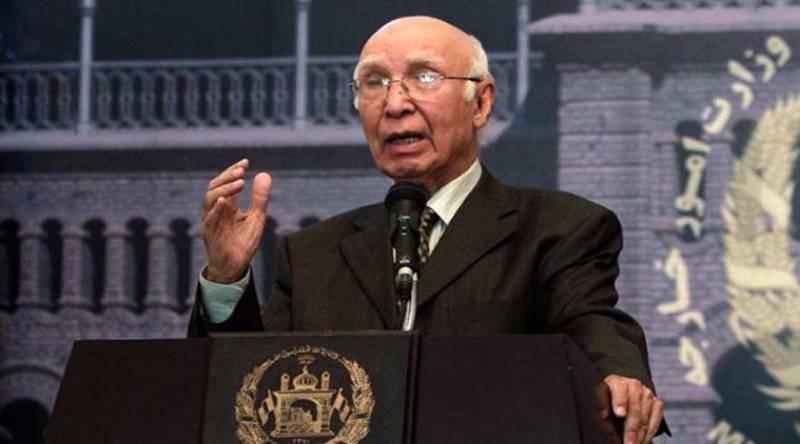 No More Deadlocks: Afghan president, Indian foreign minister to visit Pakistan, says Sartaj Aziz