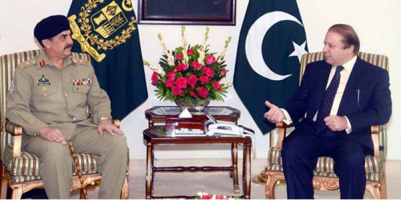 PM Nawaz, Gen Raheel Sharif discuss key issues in 'one-on-one meeting'