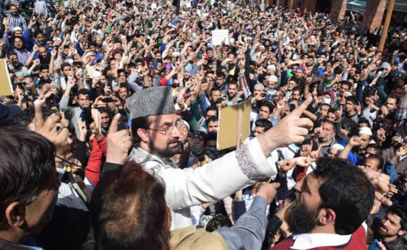 Thousands protest Kashmiri boy's killing in Srinagar; leaders on hunger strike