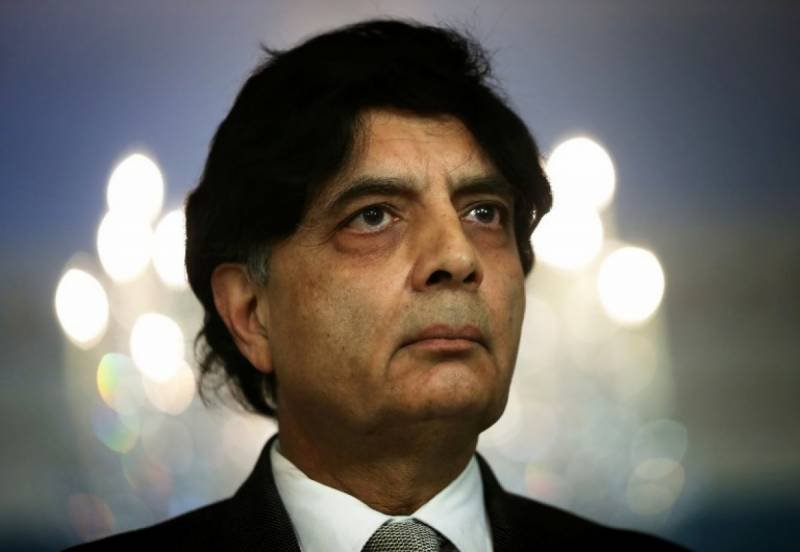 Sindh government maligning Rangers to save 'just one man': Ch Nisar