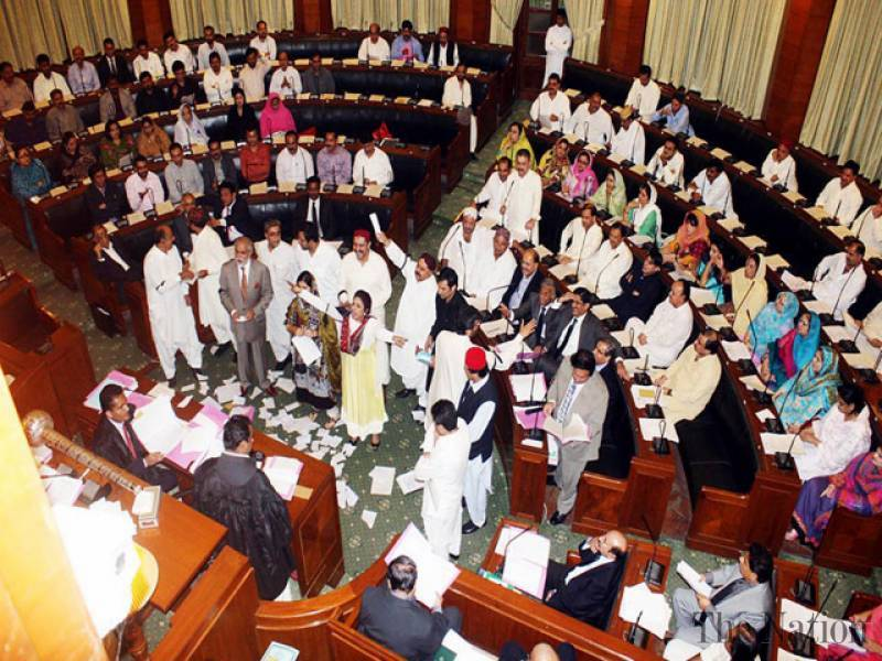 Opposition protests as resolution on Rangers' special powers not presented in Sindh Assembly