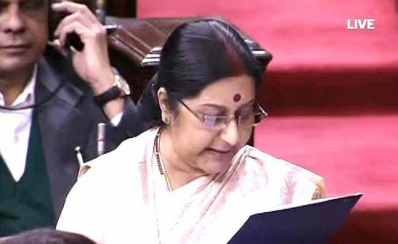 Sushma Swaraj briefs Indian parliament on Pakistan visit amid uproar
